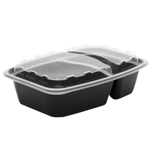 Snap Pak 28 oz Dual-Compartment Meal Prep / Food Storage Container