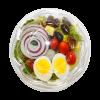 Swirl Salad Bowl by Snap Pak