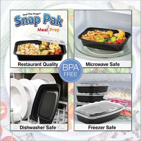 bpa free, microwave leak resistant
